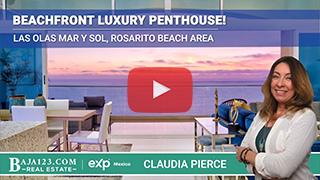 Beachfront Luxury Penthouse in Las Olas Mar Y Sol, Rosarito Beach